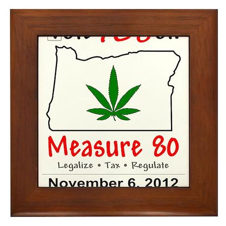 Vote YES on Oregon Measure 80 Framed Tile