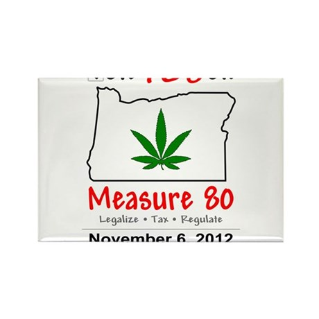 Vote YES on Oregon Measure 80 Rectangle Magnet