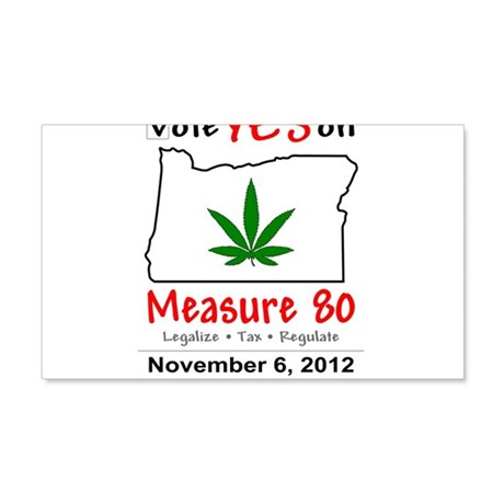 Vote YES on Oregon Measure 80 20x12 Wall Decal