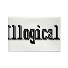 3-illogical spock trans.png Rectangle Magnet