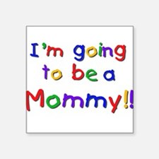 """cpprimaryfuturemom.png Square Sticker 3"""" x 3"""""""
