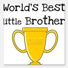 "worldbestlittlebrotee.png Square Car Magnet 3"" x 3"