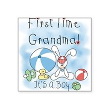 "FIRSTTIMEGMABEACHBALL.png Square Sticker 3"" x 3"""