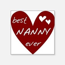"""redbesNANNY.png Square Sticker 3"""" x 3"""""""
