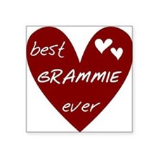 "redbesGRAMMIE.png Square Sticker 3"" x 3"""