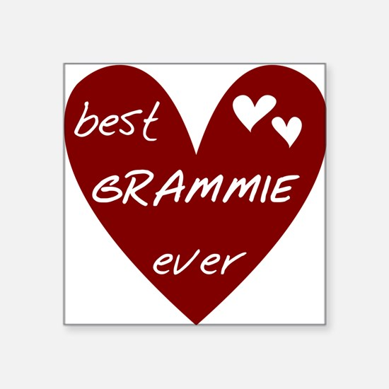"""redbesGRAMMIE.png Square Sticker 3"""" x 3"""""""