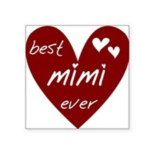 "redbestMIMI.png Square Sticker 3"" x 3"""
