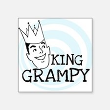 "KINGGGRAMPY.png Square Sticker 3"" x 3"""