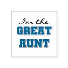 "bluegreatAUNT.png Square Sticker 3"" x 3"""