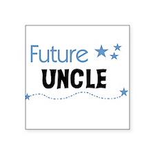 "futureuncleblueimag.png Square Sticker 3"" x 3"""