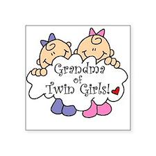 "grandmatwingirlsimget.png Square Sticker 3"" x 3"""
