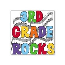 "MUSICAL3RDGRADE.png Square Sticker 3"" x 3"""