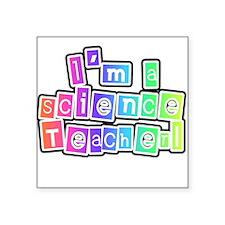"""rainbowscienceteac.png Square Sticker 3"""" x 3"""""""