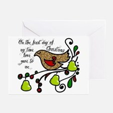 Partridge in a pear tree Greeting Cards (Pk of 20)