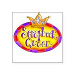 Scrapbook Queen Crown Square Sticker 3