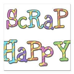 "Scrap Happy Square Car Magnet 3"" x 3"""