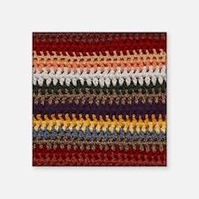 "Knitting Stripes Square Sticker 3"" x 3"""