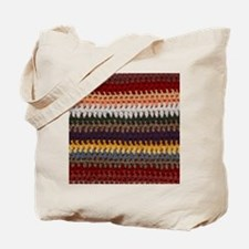 Knitting Stripes Tote Bag