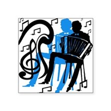 "accordiandarr.png Square Sticker 3"" x 3"""