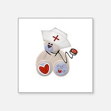 "nursebeartee.png Square Sticker 3"" x 3"""
