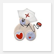 "nursebeartee.png Square Car Magnet 3"" x 3"""