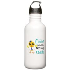Thyroid Cancer Picked The Wrong Chick Water Bottle