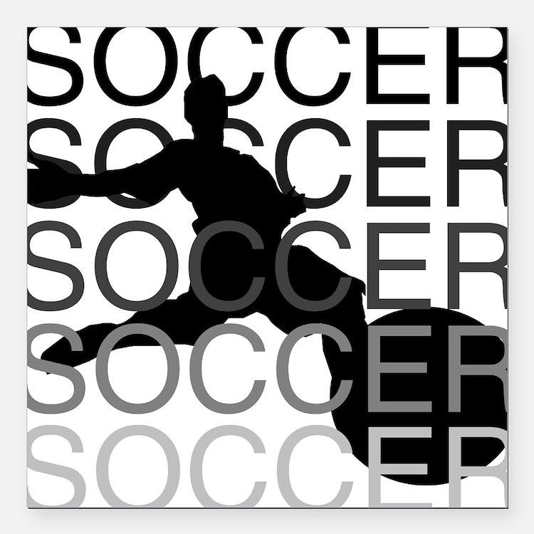 """soccerscocer.png Square Car Magnet 3"""" x 3"""""""