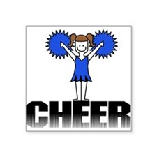"cheerblue.png Square Sticker 3"" x 3"""