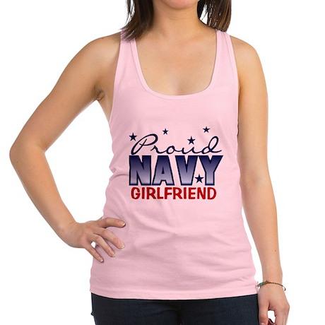 proudnavygirlfriend.png Racerback Tank Top
