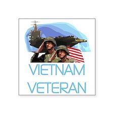 """VIETNAMVETERAN.png Square Sticker 3"""" x 3"""""""