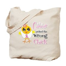 Breast Cancer Picked The Wrong Chick Tote Bag