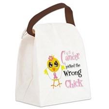 Breast Cancer Picked The Wrong Chick Canvas Lunch