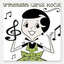 "armeniangirlsrock.png Square Car Magnet 3"" x 3"""