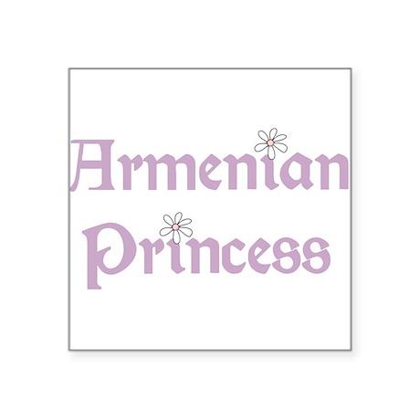 "3-armenianprincess.png Square Sticker 3"" x 3"""