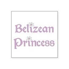 "3-belizeanprincess.png Square Sticker 3"" x 3"""