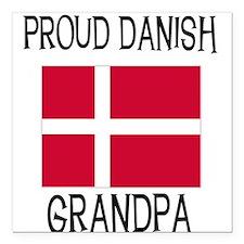 "DANISHGRANDPA.png Square Car Magnet 3"" x 3"""