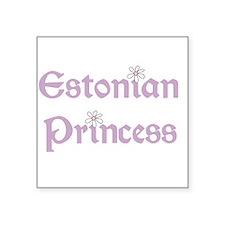 "3-estonianprincess.png Square Sticker 3"" x 3"""