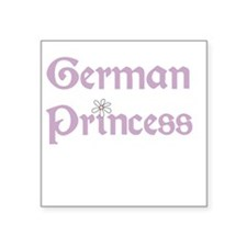 "germanprincess.png Square Sticker 3"" x 3"""
