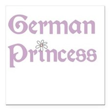"germanprincess.png Square Car Magnet 3"" x 3"""