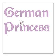 "germanprincess.png Square Car Magnet 3"" x 3"""