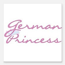 "crgermanprincess.png Square Car Magnet 3"" x 3"""