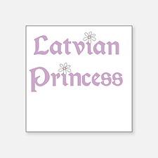 "latvianprincess.png Square Sticker 3"" x 3"""