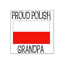 """POLISHGRANDPA.png Square Sticker 3"""" x 3"""""""