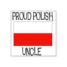 "POLISHUNCLE.png Square Sticker 3"" x 3"""
