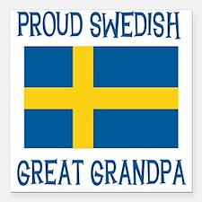 "SWEDISHGGRANDPA.png Square Car Magnet 3"" x 3"""