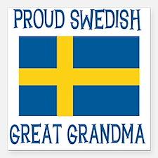 "SWEDISHGGRANDMA.png Square Car Magnet 3"" x 3"""