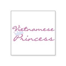 "CRVIETNAMESSEprincess.png Square Sticker 3"" x 3"""