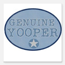"bluegenuineyoopers.png Square Car Magnet 3"" x 3"""