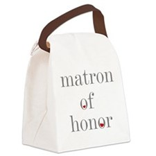GREYMATRONHONOR.png Canvas Lunch Bag
