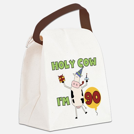 holycow90.png Canvas Lunch Bag